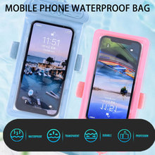 Mobile phone transparent touch screen waterproof bag for diving hot springs and other scenes
