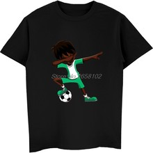 9b100958d New Summer Men 100% Cotton T-shirt Cool Dabbing Soccers Boy Jersey Shirt