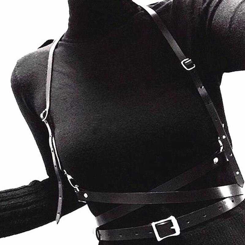 Leather Harness Female Chastity Belt Sexy Lingerie Bondage Clothing For Sex Bdsm Fetish
