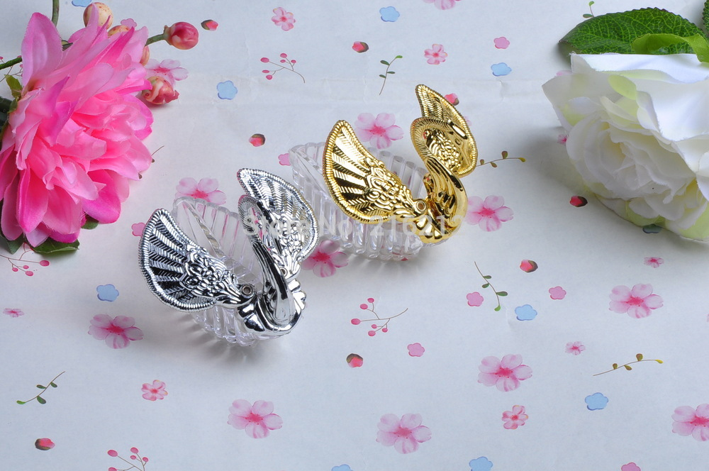 Swan Wedding Gift Return: New Arrive Plain Swan Wedding Boxes Sillver Swan Gift