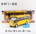 Подарок 23 см 1:32 творческий большой нос школьный автобус легковой автомобиль сплава модель акустооптические - волоконно-оптический коуниверсален коллекция игр мальчик детская игрушка
