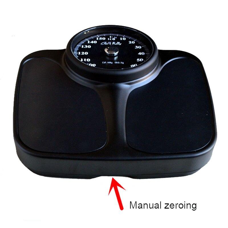 New 160kg de Luxo Mecânica Escala Do Corpo Escala de Peso Banheiro Piso Peso Do Corpo Humano Balança de Mola De Aço do Metal Casa Equilíbrio - 5