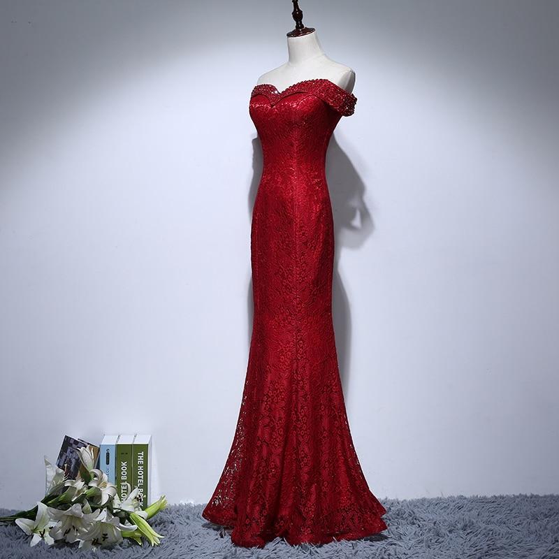 Rochii de mireasa de mireasa de pe umar Beading Rochie elegantă de - Rochii de seară de nuntă - Fotografie 3