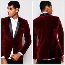 Wine Red Velvet Men Suit Groom Tuxedos Bride Groom Slim Fit Jacket Suit Tailor patricia kay wrong groom right bride