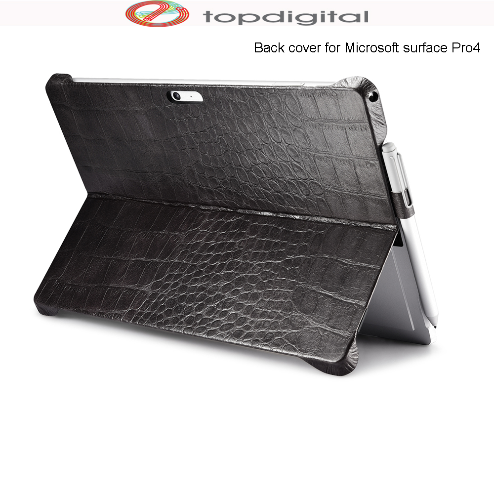icarer Genuine Cow Leather Back Case for Microsoft Surface Pro 4 Pro 5 Pro 6 Sleeve
