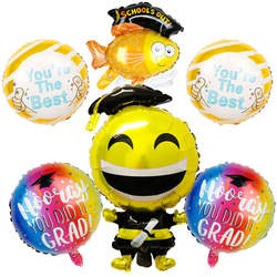 6 шт./компл. воздушные шары на выпускной Выпускной подарок мультфильм Globos школы из украшения поздравление Выпускной 2019 фигура доктора из