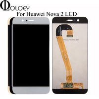 5.0 LCD For Huawei Nova 2 LCD Display Touch Screen Digitizer Assembly With Frame Tested LCDs Replacement For Huawei Nova 2