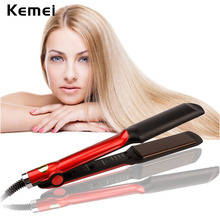 Kemei Professional Ceramic Flat Iron Hair Straightener Straightening Irons Curling Iron Hair Curler Chapinha Styling Tools