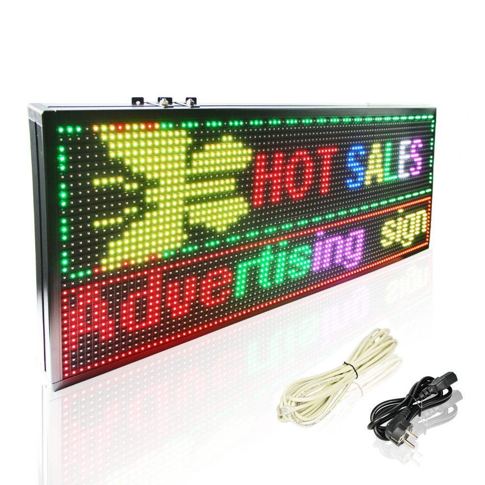 39 X14 Inches P10 RGB Full Color Led Graphic Showing Advertising Board/ Digital Writing Shop OPEN Sign
