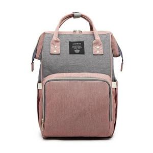 Image 2 - Mochila para pañales, bolso de gran capacidad para mamá, bolsas multifunción para bebé, impermeables, de viaje, para el cuidado del bebé