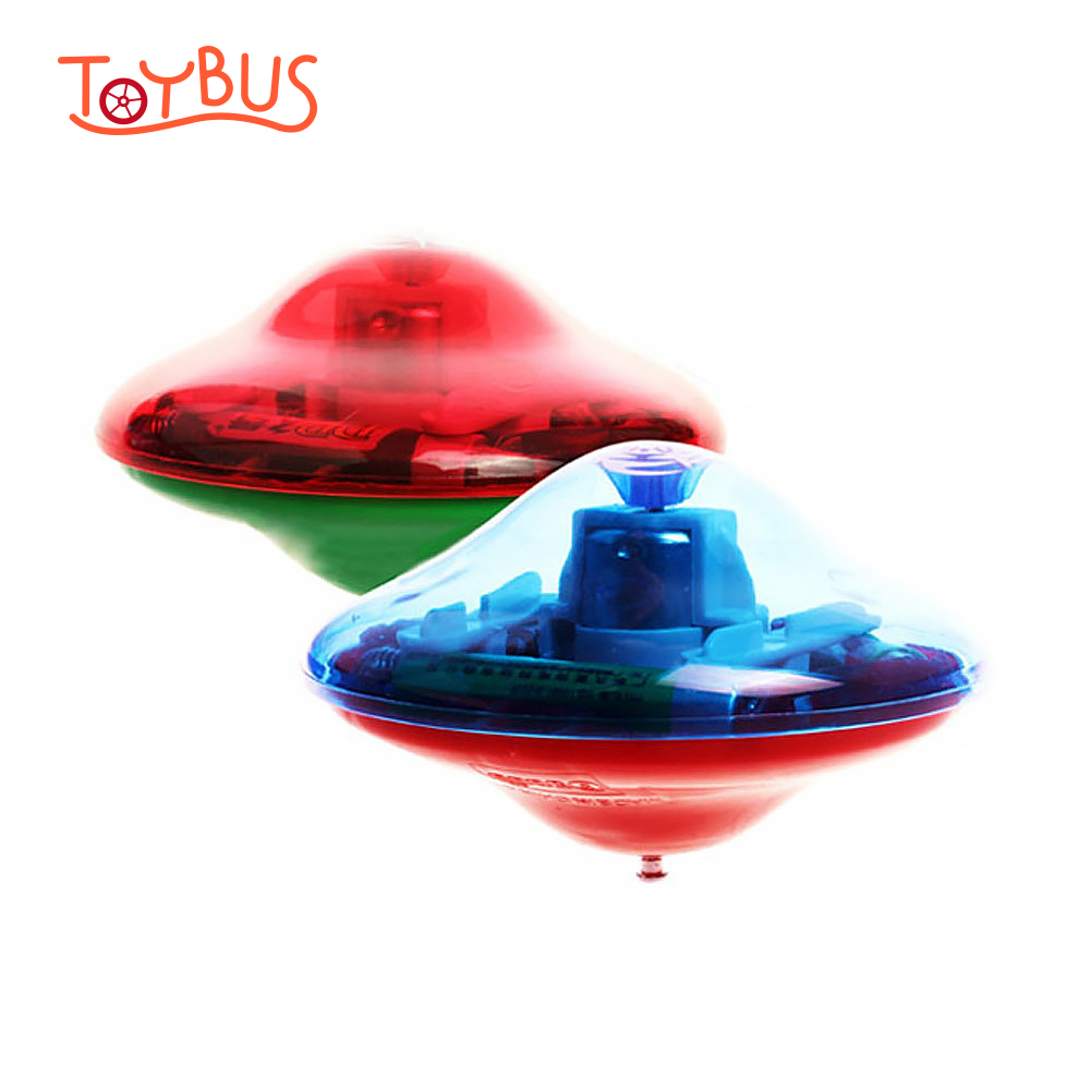 Toybus Desktop Fingertip Gyroscope Flashing Toys with Led Light & Music Laser Gyro Peg-Top Electric Finger Spinner Spinning Toy