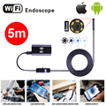 Armgroup Wifi Endoscope Iphone HD Camera 8mm Lens 5M Snake Tube USB Pipe Inspection Borescope Android IOS HD Endoskop Camera