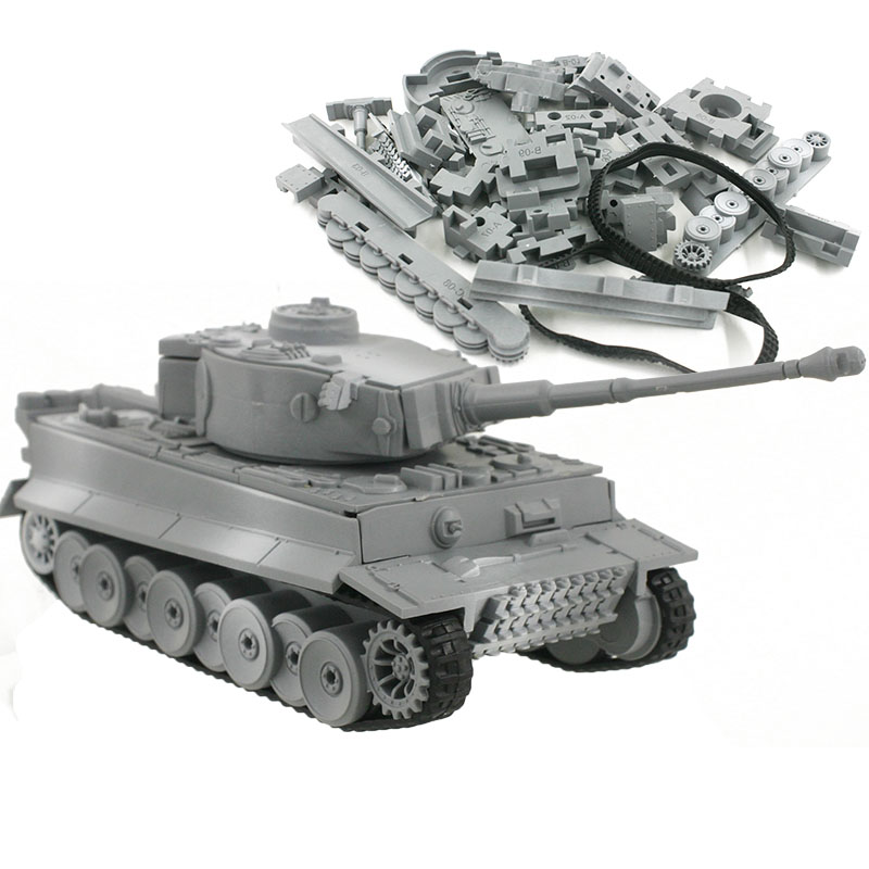 4D Model Building Kits Military Model Assembly Tiger Tank Panzerkampfwagen VI Educational Toys Collection High-density Material willys jeep 1 10
