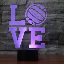 LOVE 3D Lamp LED  7 Color Change Sensor Remote Letter 3D Night Light Home Room Decoration Desk lamp Best Child Gift
