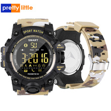 EX16S 스마트 워치 위장 카모 스포츠 시계 남자 실행 단계 Passometer 수면 모니터 호출 알림 스톱워치 방수 시계
