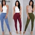 Para mujer Delgada Pantalones Vaqueros de Cintura 6 Colores Casual Jeans Pantalones de Mezclilla de La Vendimia
