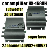 Best Selling 12V Mini 2 1Channel Digital Audio Auto Car Stereo Amplifier Home Boat Audio 40WX2