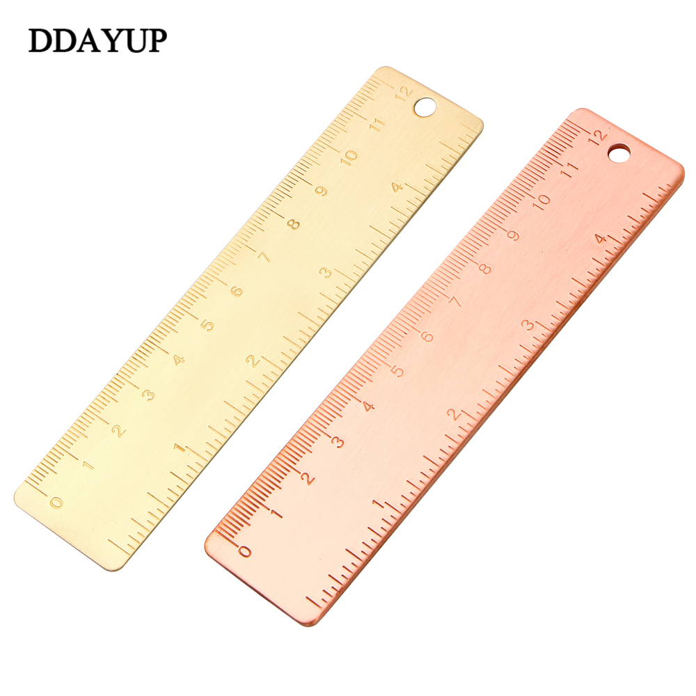 Vintage Purple Copper Handy Straight Ruler Painting Template For Kids Gifts School Supplies Office Stationary