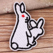 Нашивка для одежды «сделай сам» нашивка с утюгом кроликом байкерские