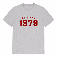 8526d0802 Original 1979 Women Tshirt 70s Fashion Birthday Shirt Short Sleeve Tops  Cotton Oversized Mom Life T