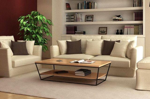 American Village Loft Furniture Creative Wrought Iron Wood Coffee Table  Coffee Table Sofa Side A Few