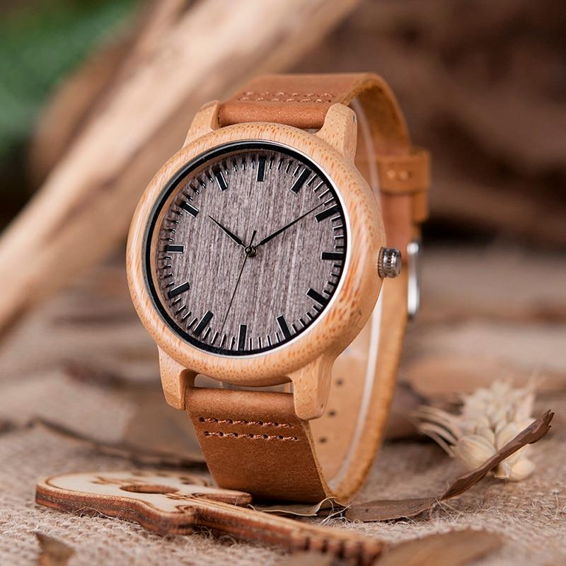BOBO BIRD V-A18 Topmærke Træ ure Herre Casual Bamboo Quartz - Mænds ure - Foto 2