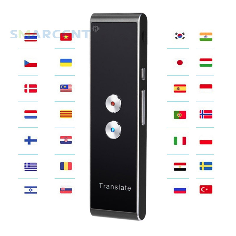 Portable Smart Speech Translator Two Way Real Time 30 Multi Language Translation For Learning Travelling Business Meeting
