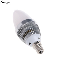 E12 E14 3W RGB LED 15 Colors Changing Candle Light Bulb Lamp w/Remote Control AC85-265V