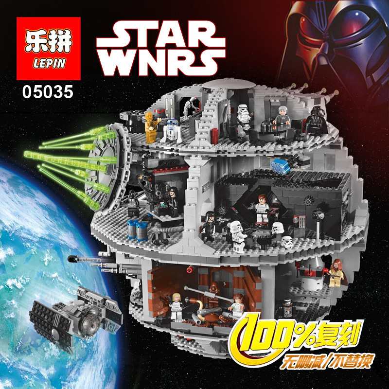 ФОТО lepin 05035 3804pcs star wars death star minifigures building blocks brick toys 100% compatible with legoe 10188