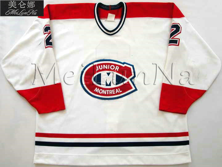 MeiLunNa Customize QMJHL Montreal Junior Hockey Jerseys Home Road Third  White Black Red Sewn Any Name NO. Size-in Hockey Jerseys from Sports    Entertainment ... a66d11eec6c