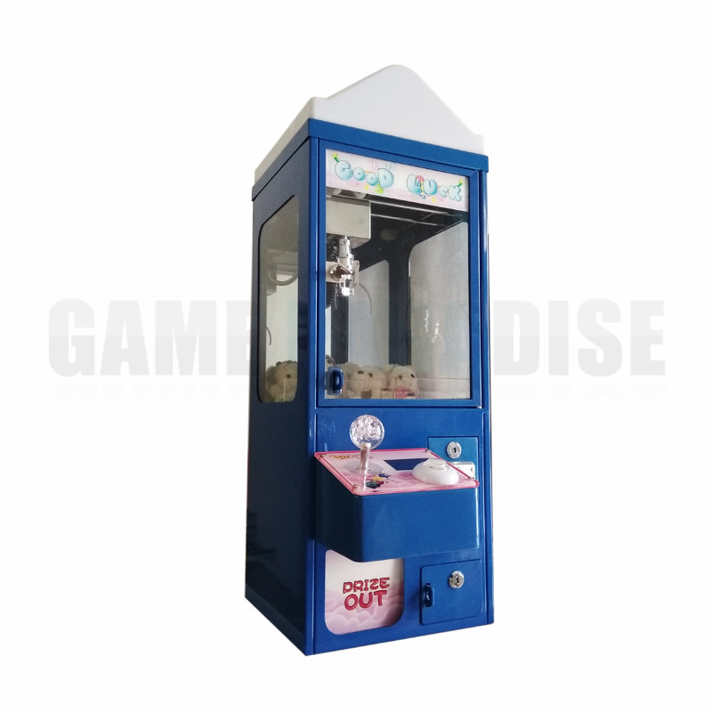 Mini Metal Case bar top doll candy catcher machine coin operated plush toys claw crane redemption game machine