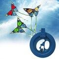 Durable ABS Carretel de Linha de Pipa Roda Aderência/Winder/Ballbearing/Punho da Ferramenta Kites Acessórios de 6.3 polegadas Azul