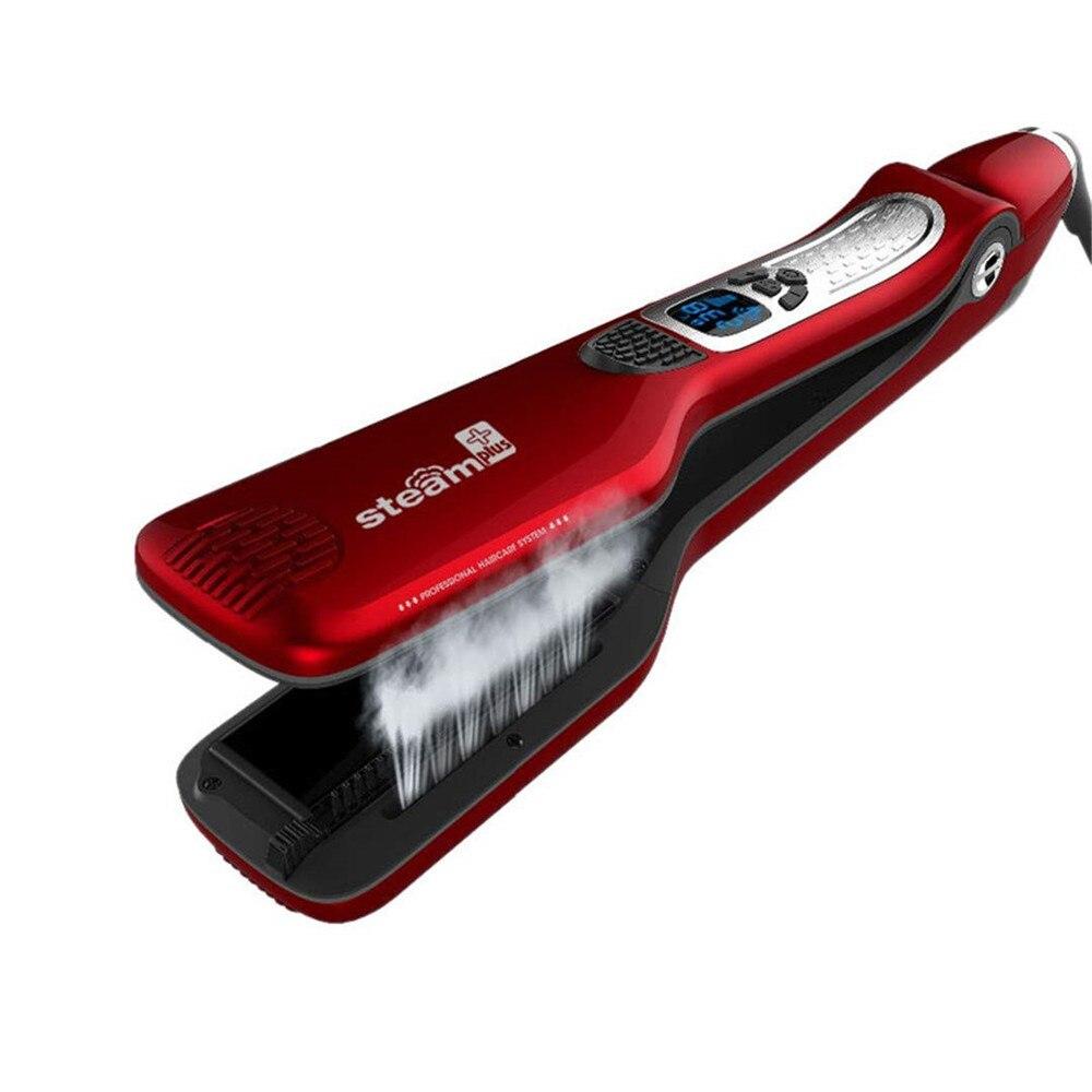 Lisseur cheveux vapeur brosse professionnel personnalisé Steampod défriser les cheveux fer plat rapide outils de coiffure