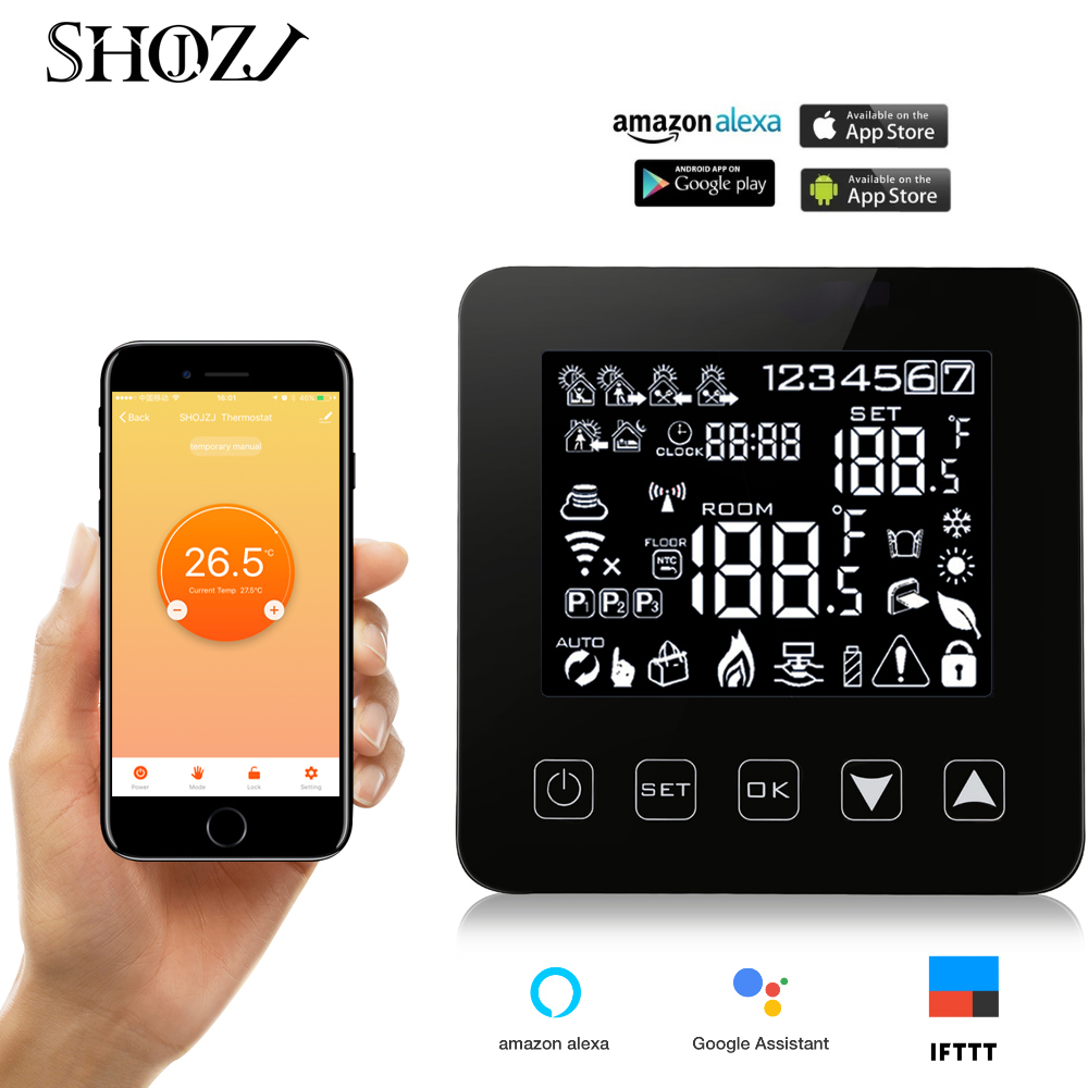 Google Assistant Heating Thermostat Control Electric Floor Heating Programmable Thermostat Temperature Controller