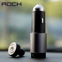 ROCK Universal Smart Phone 3 In 1 Emergency Hammer Unival Car Charging Mini Wireless Bluetooth Earphone