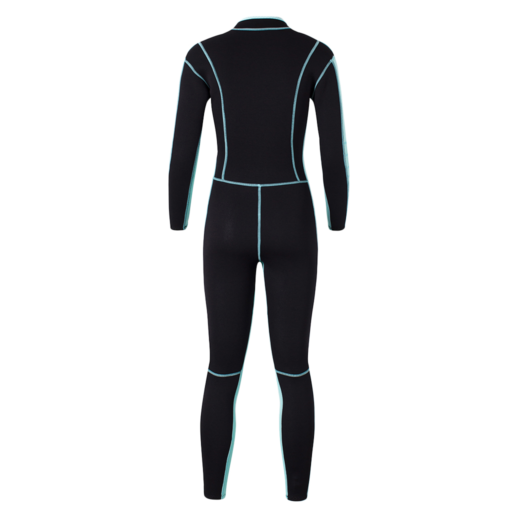 Womens Wetsuit Full One-piece 3mm Neoprene Surfing Scuba Diving Snorkeling Swimming Long Sleeve Suit