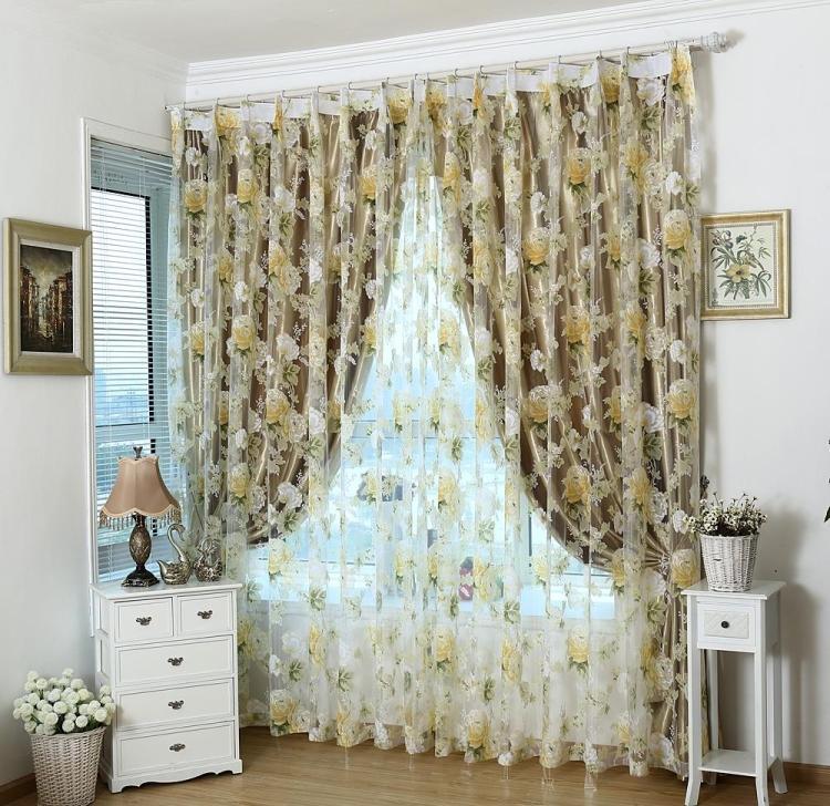 Moda rom ntica tulle para windows lujo translucidus - Disenos de cortinas para dormitorios ...