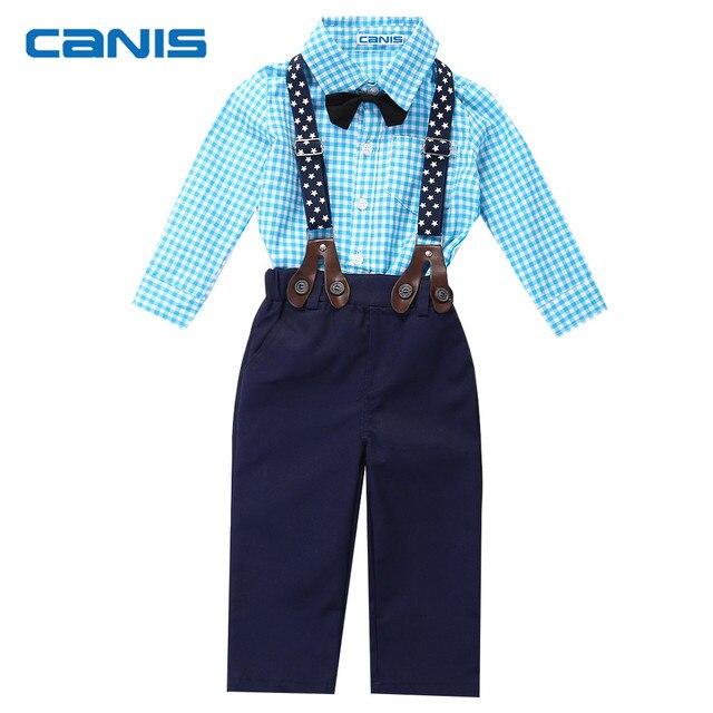 Kleinkind Baby Boy Gentle Man Kleidung Set Fliege Kariertes Hemd + ...