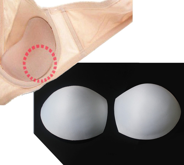 f96c2ff279 10pairs Off White Thick Push Up Pads Sewing In Bra Cups Soft Foamfor