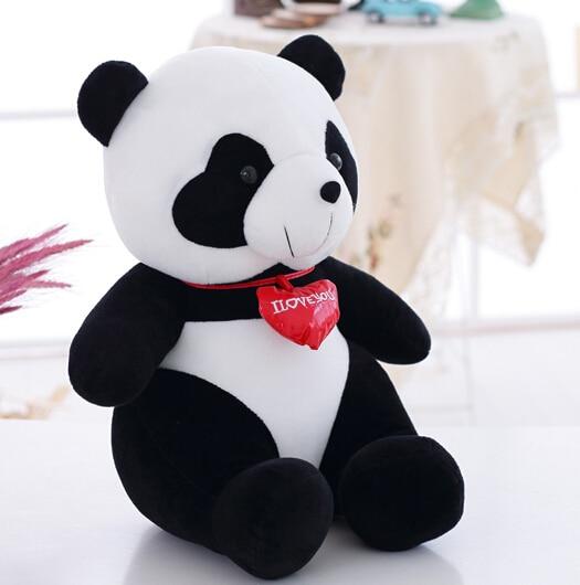 ФОТО Cute Panda Plush Toy Doll Birthday Gift Children'S Toys Tuba 56cm