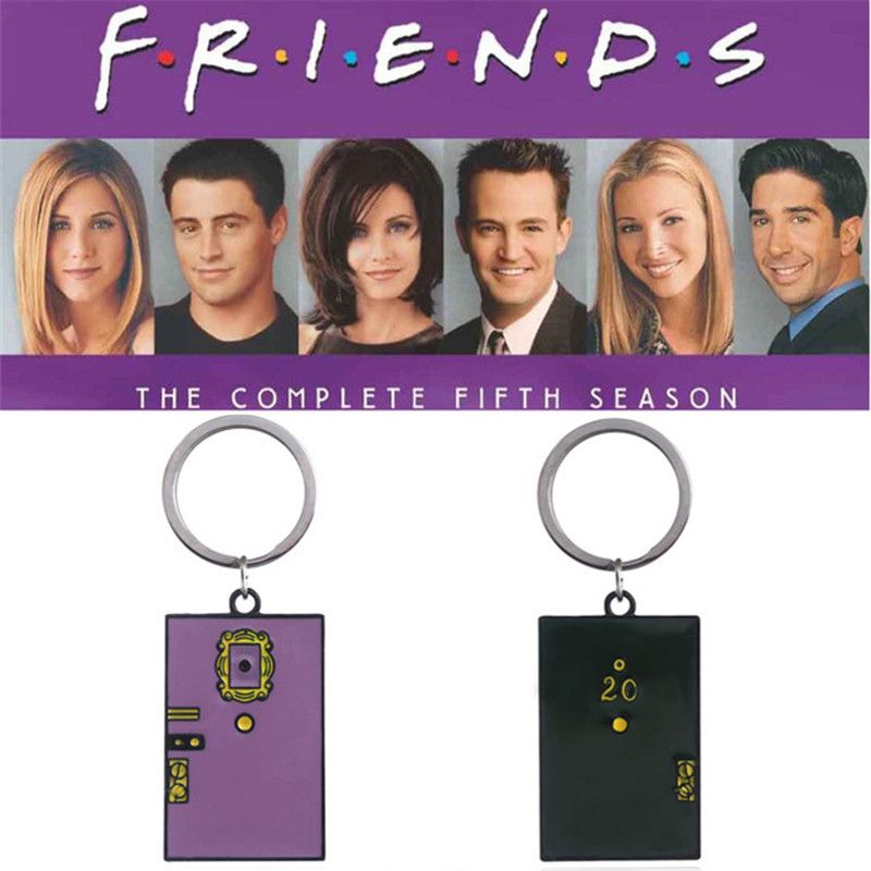 2 Colors TV Show Friends Monica 39 s Door Keychain Central Perk Coffee Time Key Chain for Women Men Fans Car Keyring Jewelry T23 in Key Chains from Jewelry amp Accessories