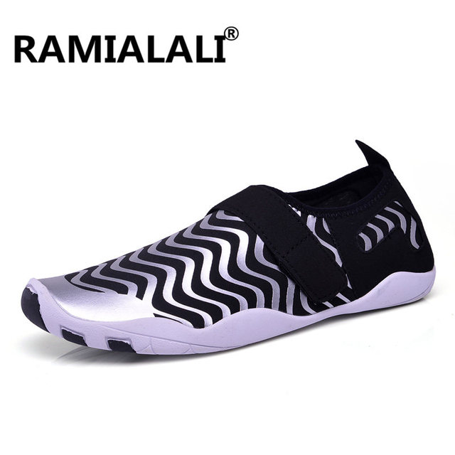 fcdacb3f2ca4 Ramialali 2018 Summer Men Aqua Shoes High Quality Resistant Rubber Soles  Beach New Water Swimming Yoga Sport Sneakers