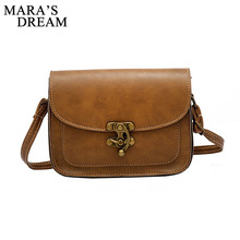 Mara's Dream 2017 Vintage PU Leather Women Bag Fashion Lock Small Women Messenger Bag Single Strap Shoulder Bag Crossbody Bags