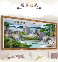 Full Round Diamond Cross Stitch 5D DIY Diamond Painting Waterfall Bear Landscape Embroidery Rhinestone Mosaic Painting