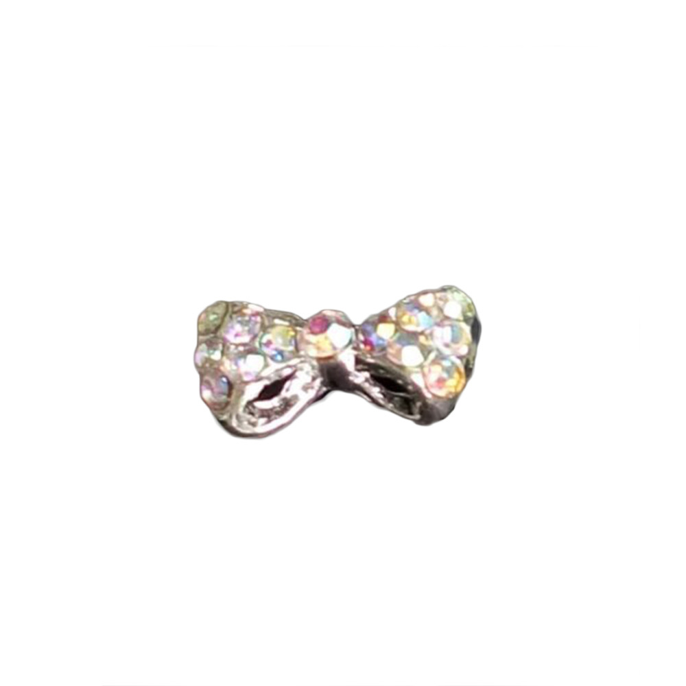 Manicure Tips Diy Fashion Accessories Alloy Rhinestones Inlaid Bow Tie Nail Art Glitters Decoration Drop Shopping