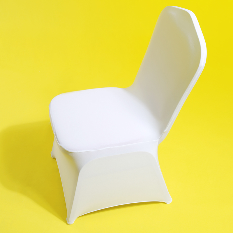 50 or 100 Packs of Ivory Spandex Lycra Chair Cover Banquet Party Wedding Decor