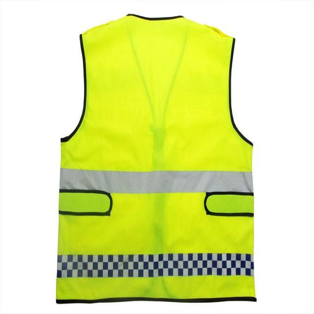 Versão espessamento jaqueta clothing visibilidade reflexiva da segurança colete refletivo workwear uniformes clothing tamanho 67*60 centímetros