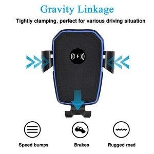 Image 2 - FDGAO Qi Caricabatteria Da Auto Senza Fili per il iphone 8 X XR XS Max 11 Pro Samsung S10 S9 S8 Nota 10 9 8 10W Veloce di Ricarica Supporto Del Supporto Del Telefono