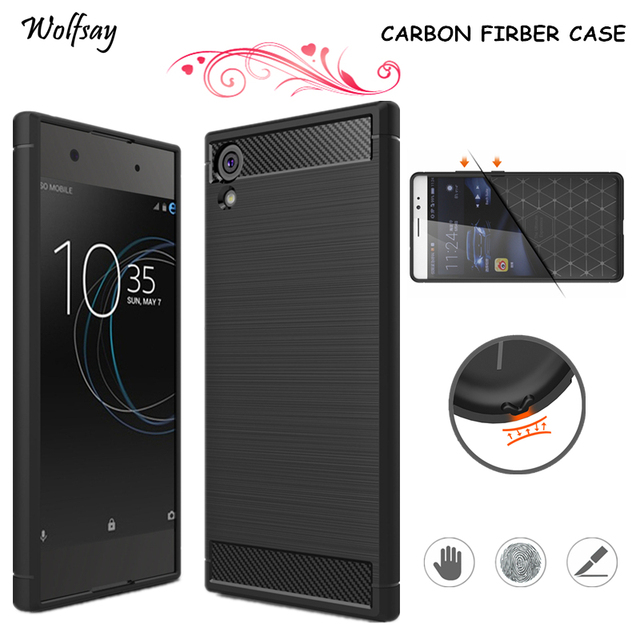 buy online 30b7f 5672b US $2.51 41% OFF|Wolfsay For Cover Sony Xperia XA1 Ultra Case Armor Luxury  Silicon Case For Sony Xperia XA1 Ultra Case For Xperia XA1 Ultra G3226-in  ...
