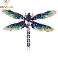 XIYANIKE libellule broches pour femmes vert jaune émail insecte cristal libellule broche hommes costume robe broches et broche JBSW65